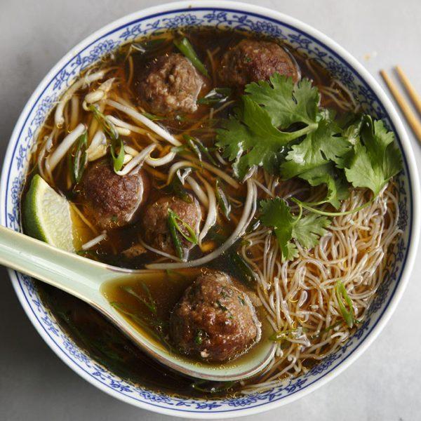 Fusion Pho Meatball Soup